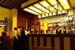 Restaurangstång i hotell Arkivfoton