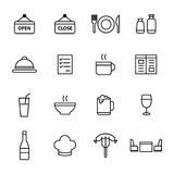 Restaurangsymbolsuppsättning Arkivbild