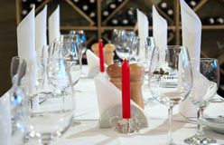 restaurangtabell Royaltyfri Fotografi