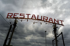 Restaurangtecken Arkivbild