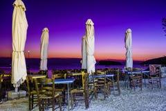 Restauranguteplats med inget royaltyfria bilder