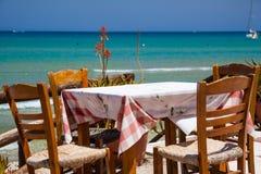 Restaurant à côté de la mer Image stock