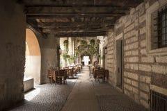 Restaurant à Vérone Photos libres de droits