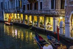 Restaurant à Venise, Italie Photos libres de droits