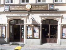 Restaurant Švejk `U zeleného stromu, Prague. Restaurant Švejk `U zeleného stromu in Prague. Prague is the capital and largest city of the Czech Republic. It Royalty Free Stock Photography