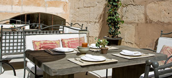 Restaurant. Table ready for dinning, spanish restaurant Royalty Free Stock Images