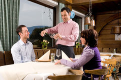 In the restaurant Royalty Free Stock Image