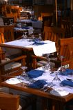 Restaurant. Table setup in the restaurant Royalty Free Stock Photo