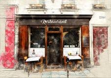 Restaurant illustration stock