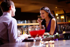 In the restaurant Stock Images