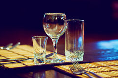 Restaurant. Supplies for the restaurant, serving royalty free stock image
