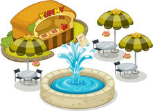 A Restaurant royalty free illustration