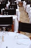 Restaurant 2. Waiting for the guests in restaurant in Juan Les Pins stock photography