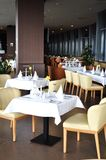 Restaurant. View of restaurant interior - table setting Royalty Free Stock Photography