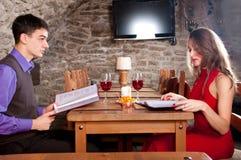 In restaurant Stock Images