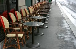 Restaurant. Little tables in the street Stock Photos