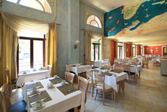 Restaurant. In NH Parque Central. Havana. Cuba Royalty Free Stock Photos