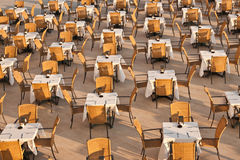 Restaurant. The outdoors restaurant in hotel royalty free stock images