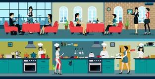 Restaurant vector illustratie