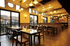 Restaurant. During the day the Korean cuisine restaurant Stock Photography