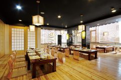 Restaurant. A Janpanese restaurant,quiet and nobody royalty free stock images
