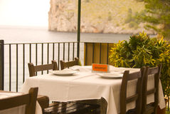 Restaurant. A table in a hotel on the island mallorca spain Royalty Free Stock Images