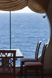 Restaurant aan boord van cruiseschip Stock Foto's