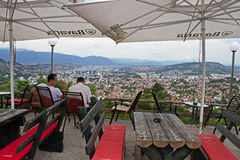 Restaurant Above Sarajevo Stock Photography