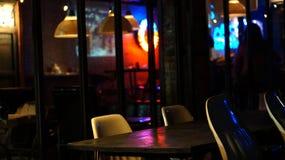 Restaurant abstrait de barre d'abd de bar pendant la vie de nuit Images libres de droits