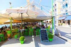 Restaurant agréable à Athènes photos stock