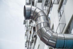 Restaurant air pipe, restaurant air ventilation. Stock Photo