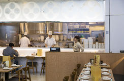 Restaurant at airport Stock Image