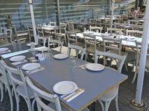 Restaurant in altem Yaffo-Hafen, Israel Stockfoto