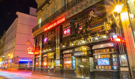 The restaurant American Dream at night, Paris, France. Stock Photography