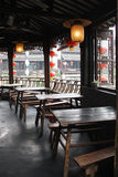 Restaurant in the ancient town. Xitang. China royalty free stock photos