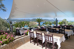 Restaurant And Beautiful Sea View. Royalty Free Stock Photos