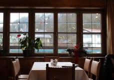 Restaurant-Ansicht Stockfotografie