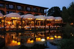 The Restaurant Aphrodite of the luxury hotel Albergo Giardino in royalty free stock photos