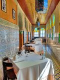 Restaurant arabe de style Photo stock