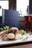 Restaurant-Art-Zutritt stockfotos