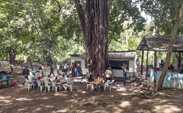 Restaurant in Arusha. Fields where they are buying food, it is a picture taken in May 2014 royalty free stock image