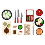 Restaurant asian cuisine Vector flat icon Stock Photography