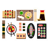 Restaurant asian cuisine Vector flat icon Royalty Free Stock Photography