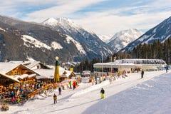 Restaurant au coeur de ski de Planai et de Hochwurzen de Schladming-Dachstein La Styrie, Autriche, l'Europe photos stock