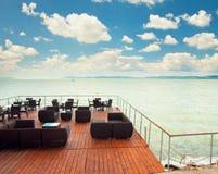 Restaurant au lac Balaton image stock