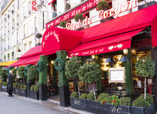 The restaurant Au pied du cochon, Paris, France. Paris, France- December 29, 2015: The restaurant Au pied du cochon  decorated for Christmas .It is famous Royalty Free Stock Photography
