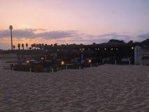 Restaurant auf dem Strand lizenzfreies stockfoto