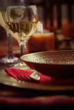 Restaurant autumn place setting Royalty Free Stock Image