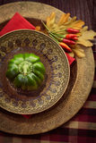 Restaurant autumn place setting Royalty Free Stock Photography
