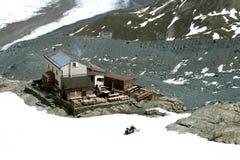 Restaurant avec du charme de montagne Image stock